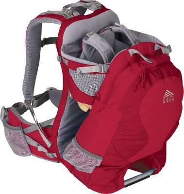 Camp and Hike This pack is ideal for carrying your little one around town or on the trail. Five-point adjustable childs harness provides a secure fit. Padded adjustable-height childs seat to match their growing needs. Easy-to-use torso length-adjustment system offers a custom fit for mom or dad. Durable 420-denier polyester ball shadow with 420-denier polyester oxford reinforcing wears like iron. Conveniently placed toy loops. Removable and washable chin pad. Organizer pocket provides storage for miscellaneous items. Foot stabilizer for safe loading. Padded, two-layer shoulder straps offer optimum comfort. Breathable, padded back panel keeps you cool on long excursions. Load-lifter straps offer fine-tune adjustability. Hip-belt water-bottle pocket and waistbelt storage pockets. Imported.Maximum load capacity: 40 lbs.Torso range fit: 14-18.Volume: 1,300 cu. in.Weight: 4 lbs. 13 oz.Length: 12.Width: 12.Height: 21.Color: Rio Red. - $169.95