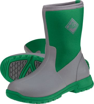 Fishing Muck boots combine the latest technology and styling to ensure your feet stay dry and cool but wont be weighed down by bulky materials. High-grade rubber exterior provides a tough waterproof barrier, and neoprene layered with Spandura adds protection against wear. XpressCool and etc Anti-Friction linings wick moisture away, create a cooling effect, reduce friction and eliminate 99% of bacteria to keep feet fresh. Lightweight shock-absorbing EVA soles keep weight down to less than a pound on each foot. The 4mm CR flex-foam booties have four-way stretch and are cut specifically for a womans foot. Imported.Height: 9.5.Average weight: 1.8 lbs./pair.Womens whole sizes: 5-11.Color: Grey/Green. - $99.99