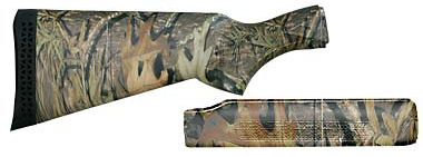 Hunting Assure your Remington Model 870 shotgun is not affected by the elements and maintains its legendary status with the durability and all-weather stability of a non-glare fiberglass-reinforced synthetic stock and forend. (Sling swivel snaps not included). Stock features a black recoil pad. 12-guage only.Available: Remington 870, Remington 870 Super Magnum. Camo pattern: Mossy Oak Obsession . - $49.88