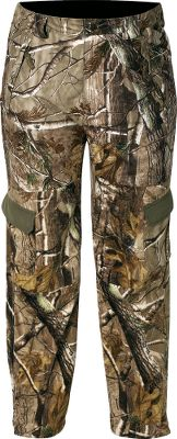 Hunting High-performance camo pants featuring Cabela's-exclusive body-mapping, scent-controlling Perfect Panel construction. Odor-inhibiting Scent-Lok helps prevent game from winding you. Articulated knees enhance free movement. Six pockets with zippered closure provide secure storage you can access quietly. Moisture-resistant material in key areas enhances comfort. Zippered leg openings allow easy donning and removal over footwear. Imported.Size: M-2XL.Camo pattern: Realtree AP . - $113.88