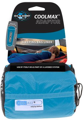 Camp and Hike Use this travel liner with a sleeping bag or under blankets for a comfortable, restful nights sleep in warm, humid climates. CoolMax 100% polyester fabric wicks moisture away from the body and is extra-stretchy so you dont feel constricted. The liner adapts to varying temperatures and humidity levels and keeps your sleeping bag clean. Easily packs in the included 3 x 5 nylon stuff sack. Machine washable. Imported. Dimensions: 84H x 36W. - $47.95
