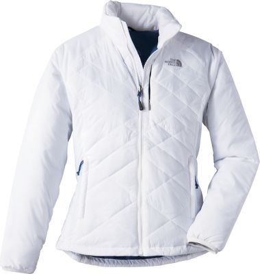 This lightweight layering jacket is heavy on performance-based features like the FlashDry thermal technology. By quickly wicking moisture away from the skin and drying rapidly, FlashDry-treated fabrics regulate core temperatures and enhance the jackets breathability. But this jacket doesnt sacrifice style for performance. It combines the two in one outdoor-inspired design thats perfect for anywhere lifes journeys take you. Plus, it packs down into its own pocket so youll never be without the cool-weather protection the 60-gram insulation provides. 100% nylon shell. Zip front. Cinch hem. Elastic cuffs. Imported.Sizes: S-XL.Colors: TNF Black,TNF White/Bolt Blue. - $149.00