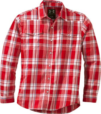 Entertainment Under Armours Six Shooter Flannel Shirt is sure to stake a claim in your wardrobe with its extremely soft Charged Cotton that dries up to five times faster than standard cotton. The lightweight and breathable fabric transports moisture away from your skin for maximum comfort, making it the ultimate work shirt. Part of UAs AllSeasonGear fabric line, its best suited for weather between 55F and 75F and helps regulate your core temperature when the weather can be unpredictable. Imported.Sizes: M-3XL.Colors: Battleship, Aluminum/Scatter, Aluminum/Cadet. Type: Long-Sleeve Shirts. Size: Medium. Color: Aluminum/scatter. Size Medium. Color Aluminum/Scatter. - $64.99
