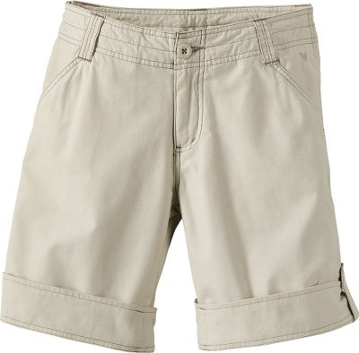 Lightweight and versatile shorts with adjustable length. Theyre crafted of ultralightweight,woven 65/35 cotton/nylon Switchback herringbone material thats garment-silicone-washed for extra softness. Contrasting-color topstitching. Inseam adjusts from 11-1/2 to 9. Machine washable. Imported.Even sizes: 4-14.Colors: Bark, Stone. - $19.99