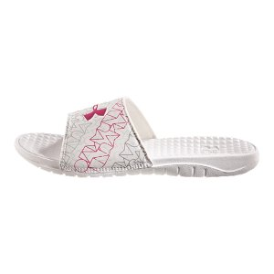 Entertainment Lightweight, fixed synthetic strap easily slides on for quick comfortSculpted EVA footbed provides exceptional cushioning while slightly textured pattern stimulates the foot for active recoveryMolded EVA outsole provides lightweight comfortImported - $19.99