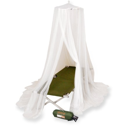 Camp and Hike The pyramid-shaped Mombasa  Nimbus mosquito net protects travelers with an easy 1-point suspension system. - $35.00