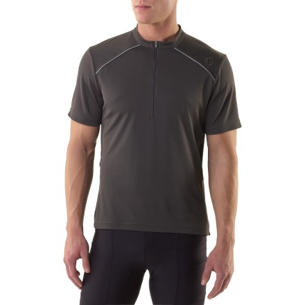 Fitness For the undercover cyclist, the Novara Hayden bike jersey keeps you cool and does it in a casual style. Polyester fabric draws moisture away from you to the outer face for quick evaporation, so you stay comfortable. Partial front zipper lets you control ventilation, perfect for both off-road and urban riding. Split hem for casual, easy styling on or off the bike. Stash a few essentials in the 2 side zippered pockets. With a UPF 50+ rating, fabric provides excellent protection against harmful ultraviolet rays. Reflective trim increases visibility in low light. Novara Hayden bike jersey has an active fit for a full range of motion. - $14.83