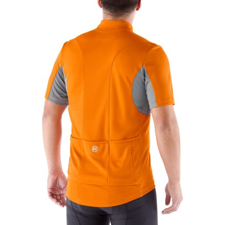 Fitness Enjoy cycling comfort with the feature-rich Novara Draft bike jersey that combines attractive styling and roadworthy performance. Polyester/recycled polyester fabric draws moisture away from you to the outer face for quick evaporation, so you stay comfortable. With a UPF 50+ rating, fabric provides excellent protection against harmful ultraviolet rays. Mesh panels underneath arms and down the back allow moisture vapor to escape quickly in critical areas. 3/4-length front zipper allows ventilation control. 3 stretch rear pockets let you stow performance food and small essentials; 1 zippered rear pocket allows you to securely store cell phone, ID and cash. Novara Draft bike jersey features an active fit providing a full range of motion. - $19.83