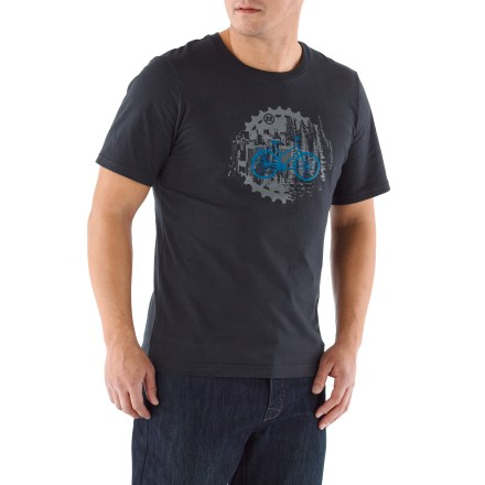 Fitness The Bike Cog T-shirt from Novara is a good-looking option whether you're on 2 wheels, a stool at a local cafe or your sofa at home. A smooth cotton blend feels comfortable and breathes well. Reflective logos help you be safe by being seen. Crew-neck styling. The Bike Cog T-shirt offers an active fit. - $16.93