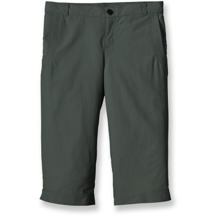 The lightweight, quick-drying Patagonia Shortie capri pants are ready for watery adventures on warm days. Durable 100% nylon fabric has built-in 50+ UPF sun protection and a Durable Water Repellent finish. Patagonia Shortie capri pants feature an internal waist adjustment to customize fit and side slits at the hem for ease of movement. Hand pockets. - $21.83