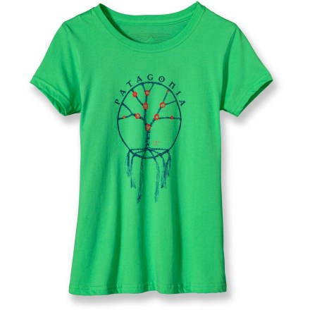The girls' Woven Flowers T-shirt is made of 100% organic cotton and illustrates how a tree's growth is connected to its roots. Ultrafine, ringspun organic cotton for comfort. Screen-print inks are PVC- and phthalate-free. - $6.83
