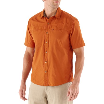 Camp and Hike Lace up your boots and head out the door bound for adventure with the REI Sahara Tech shirt. Thoughtful features keep you comfortable while traveling from the tropics to alpine terrain. - $10.83