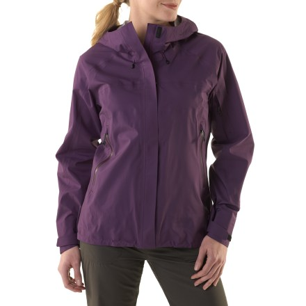 Camp and Hike The women's REI Kimtah jacket is perfect for spring and summer backpacking adventures. It's made with eVent(R) fabric and offers protection for activities where windy, wet weather is a concern. - $58.83
