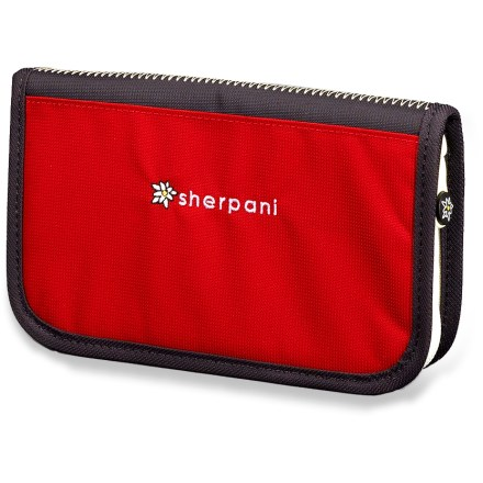 Entertainment The Sherpani Lucky wallet is compact, secure, cute and lightweight. Features a zippered change pocket, a 5-slot credit card pocket, clear ID slot and a pen holder. Sherpani Lucky accommodates a checkbook, too! - $16.93