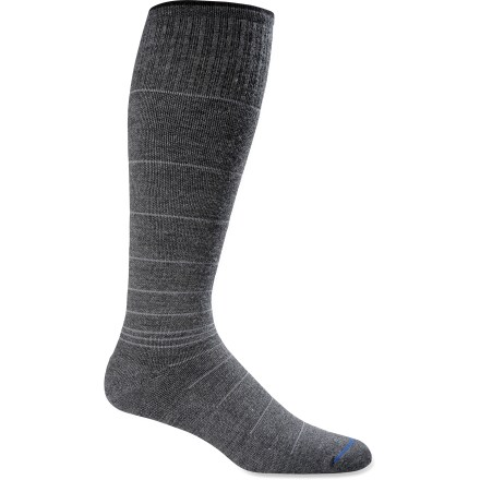 Entertainment The Sockwell Circulator Compression socks offer moderate graduated leg compression. Compression socks increase blood flow and energy, decrease swelling and deliver firm muscle support. - $24.95