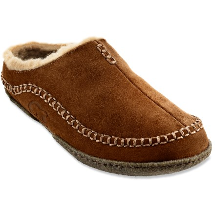Entertainment These soft Falcon Ridge slippers from Sorel provide just the right amount of comfort for early morning dog walks. - $70.00
