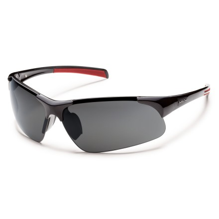 Entertainment Navigate the days with these SunCloud Traverse polarized sunglasses that offer wraparound for protection from the sun's harmful rays. - $39.93