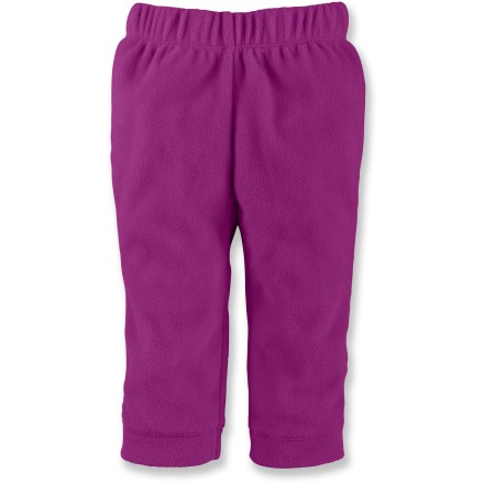 The North Face Glacier pants for infants will keep little ones warm and comfortable in soft fleece while crawling around exploring or taking a little snooze in the bouncy chair. Durable, pill-resistant, polyester fleece offers efficient, lightweight insulation. Elastic waistband provides a snug fit and easy on-and-off, perfect for when your infant needs a quick change. Closeout. - $9.73