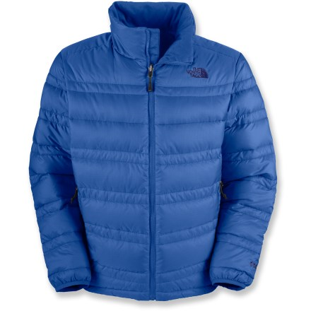 The North Face Aconcagua down jacket is the reason you don't need to worry about the frigid winds of winter. 550-fill down gives you serious warmth with little weight. Tough ripstop polyester fabric resists tearing. Zippered handwarmer pockets. Drawstring at hem; elastic cuffs. Closeout. - $108.73