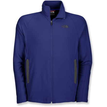 The North Face RDT 100 Full-Zip fleece jacket is a great lightweight option when you hit the trail without a lot of complications. FlashDry(TM) technology embedded in the fabric improves drying time and breathability. Handwarmer pockets have abrasion-resistant openings. The North Face RDT 100 Full-Zip fleece jacket has a drawcord hem. Closeout. - $57.93