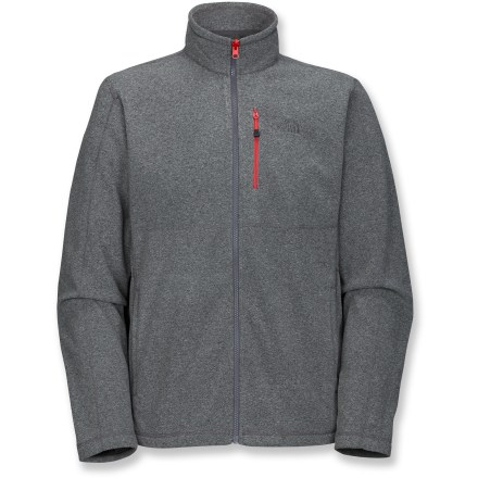 The North Face TKA 100 Tex Cap Rock Full-Zip fleece jacket is an outerwear essential; wear it alone, zip it into a shell for more warmth or stuff it in your pack as a backup layer. Lightweight Polartec(R) fleece is highly breathable, quick-drying and insulates even when wet. The North Face TKA 100 Tex Cap Rock Full-Zip fleece jacket features handwarmer pockets and a chest zip pocket. With a UPF 30 rating, fabric provides very good protection against harmful ultraviolet rays. Closeout. - $48.93