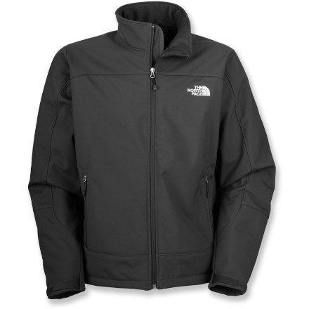 The North Face Chromium Thermal jacket for men offers windproof protection and soft, insulating fleece that you can wear on an exposed ridge or around town when the weather gets cold. TNF(TM) Apex ClimateBlock fabric is 100% windproof while remaining breathable; fleece lining is soft against skin. 2 zippered hand pockets provide easy storage; hem cinch cord and adjustable cuff tabs seal in warmth. The North Face Chromium Thermal jacket features a relaxed, standard fit to allow for layering. Closeout. - $108.93