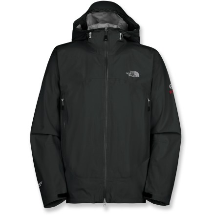 The North Face Alpine Project jacket is an ultralight, waterproof, breathable style made with Gore-Tex(R) Active Shell fabric. Wear it for swift, technical alpine ascents where weight is critical. Innovative Gore-Tex Active Shell fabric offers super-lightweight, highly breathable, wet-weather protection; it's 30% lighter than other Gore-Tex laminates. It combines a lighter, thinner Gore-Tex membrane with fine-denier performance textiles to deliver a streamlined 3-layer construction. The inner backer fabric is integrated directly into the membrane, allowing exceptional breathability and excellent next-to-skin comfort. Water-resistant, 2-way front zipper allows fit and venting adjustments. Fully adjustable hood features hidden drawcords and laminated brim; brushed chin guard is soft next to skin. Water-resistant pit zippers allow active venting. Drawcord hem and molded, nonabrasive cuff tabs seal in warmth. Water-resistant, pack-friendly zip hand pockets. The North Face Alpine Project jacket has a trim, alpine fit. The North Face Summit Series(TM): apparel is designed and tested to withstand use in harsh environments. Closeout. - $239.73