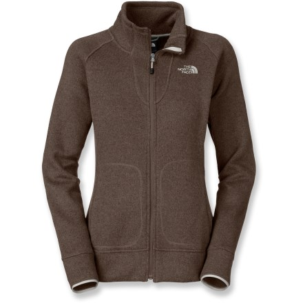The North Face Crescent Point Full-Zip jacket is an easy choice if you're looking for a lightweight fleece jacket. It's a step above the rest with its stylish knit surface and warm fleece interior. Polyester fleece provides cozy insulation; flat-knit front surface gives the Crescent Point Full-Zip jacket a more polished look. 2 front hand pockets are available to keep your fingers toasty; thumbholes keep sleeves in place and wrists protected. Closeout. - $41.83
