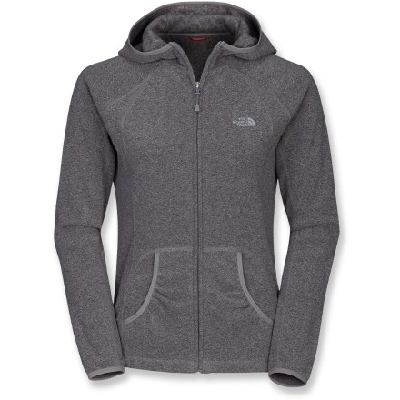 Camp and Hike Perfect for hiking, climbing or roaming around town, the TKA Texture Masonic hoodie by The North Face has a sleek fit and modern lines, and is made with soft, lightweight Polartec(R) microfleece. Pill-resistant Polartec(R) Classic 100 microfleece provides warmth without the weight and bulk of traditional fleece. The North Face TKA Texture Masonic hoodie breathes well to provide comfort in a wide range of activities and dries quickly to minimize heat loss. Fabric provides UPF 30 sun protection, shielding skin from harmful ultraviolet rays. Features a full-length zipper, hand pockets and a media-friendly pocket with loop. Closeout. - $48.93