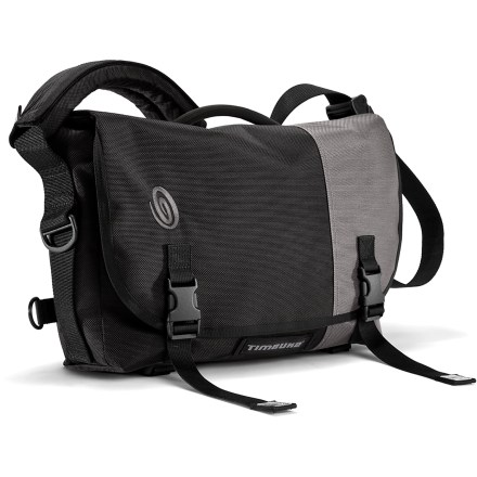 Camp and Hike The small Timbuk2 Snoop Camera messenger bag plays it cool on the outside with classic messenger styling that conceals a padded modular interior-perfect for cameras, lenses and accessories. Modular interior walls can be repositioned to accommodate a wide array of cameras and accessories; or remove the padded insert and use the bag as a standard shoulder bag. Reinforced, adjustable straps on the bottom of the bag let you secure a tripod. Internal slash pocket provides a place to put files, an e-reader or a small laptop; clear, 3-zip organizer keeps filters and memory cards easy to find. The Timbuk2 Snoop Camera messenger bag features waterproof thermoplastic urethane lining and a durable ballistic nylon exterior. - $111.69