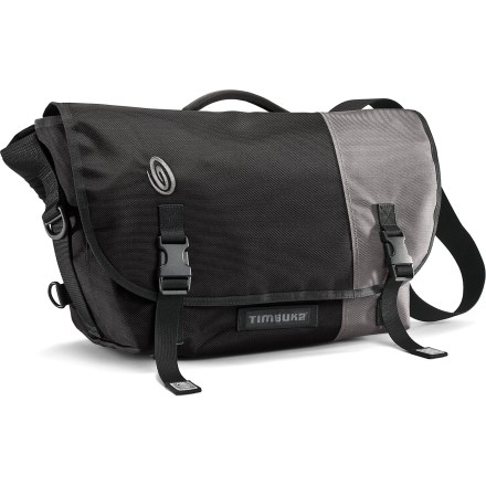 Entertainment The medium Timbuk2 Snoop Camera messenger bag looks cool on the outside with classic messenger styling that conceals a padded and modular interior-perfect for cameras, lenses and accessories. Modular interior walls can be repositioned to accommodate a wide array of cameras and accessories; or remove the padded insert and use the bag as a standard shoulder bag. Reinforced, adjustable straps on the bottom of the bag let you secure a tripod. Internal slash pocket provides a place to put files, an e-reader or a small laptop; clear, 3-zip organizer keeps filters and memory cards easy to find. The Timbuk2 Snoop Camera messenger bag features waterproof thermoplastic urethane lining and a durable ballistic nylon exterior. - $169.00