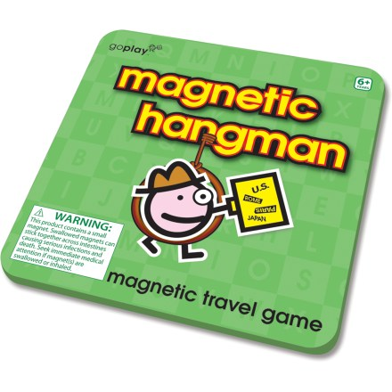 Camp and Hike This Magnetic Hangman travel game from Toysmith puts a fun twist on a classic game that travels well for road trips, airplane rides and general on-the-go fun. - $4.93