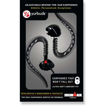 Camp and Hike Yurbuds Ironman Series BTE earphones were developed by a marathoner and triathlete with personalized sizing to stay in your ears during heavy activity and rapid movement. - $21.93