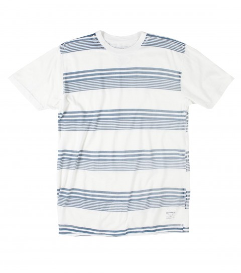 Surf O'Neill Gilly Tee.  100% Ringspun cotton.  30 singles Premium fit tee with softhand screenprint stripes. - $20.99