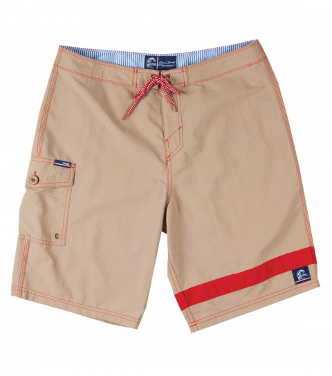 "Surf Jack O'Neill Charger Boardshorts.  100% Nylon Supplex (TM) boardshort. Vintage surf inspired short with contrast leg stripe. Buttery soft nylon and anti-abrasive interior thread make this an all day short. Side cargo pocket with fin key and bottle opener. 20"" outseam. - $41.99"