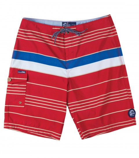 "Surf Jack O'Neill Mar Boardshorts.  100% Nylon Supplex (TM) printed stripe boardshort. Retro inspired engineered stripe in classic colors. Buttery soft nylon and anti-abrasive thread provide superior comfort. Side cargo pocket with fin key and bottle opener. 21"" outseam. - $48.99"