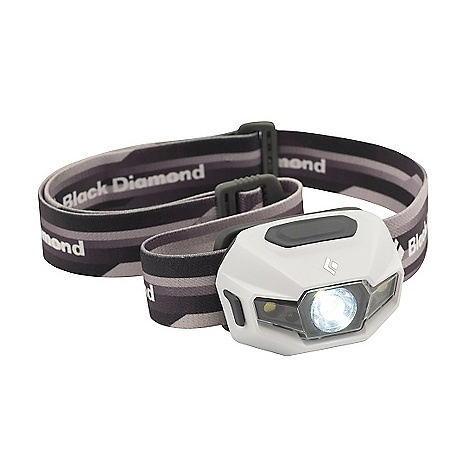 Camp and Hike Free Shipping. Black Diamond ReVolt Headlamp DECENT FEATURES of the Black Diamond ReVolt Headlamp 1 TriplePower LED, 2 SinglePower white LEDs and 2 SinglePower red LEDs emit up to 110 lumens (max setting using alkaline batteries) Red night vision mode has proximity and strobe settings, and activates without cycling through white mode Sleek, low profile design uses 3 Black Diamond AAA Rechargeable Batteries or standard alkaline or lithium batteries Settings include full strength in proximity and distance modes, dimming, strobe, red night vision and lock mode Three-level power meter shows remaining battery life for 3 seconds after switching on headlamp Protected against splashing or sprayed water from any angle (IPX 4) The SPECS Led Type: 1 TriplePower / 2 SinglePower Max Lumens: 110 (alkaline), 90 (NiMH) / 25 (alkaline), 25 (NiMH) Max Distance(S) ON Highest Setting: 70 m (alkaline),66 m (NiMH) / 9 m (alkaline),8 m (NiMH) Max Distance(S) ON Lowest Setting: 11 m (alkaline),9 (NiMH) / 3.5 m (alkaline), 3.5 m (NiMH) Max Burntime(S) ON Highest Setting: 70 H (alkaline), 12 H (NiMH) / 22 H (alkaline), 10 (NiMH) Max Burntime(S) ON Lowest Setting: 300 H (alkaline), 190 H (NiMH) / 80 H (alkaline), 80 H (NiMH) Batteries: 3 AAA alkaline (included) / 3 AAA NiMH (included) Weight With Batteries: 3.4 oz (alkaline), 3.5 oz (NiMH) / (alkaline),97 g, 100(NiMH) Case Pack Quantity: 10 Retail Package Dimension: 4.1 x 4.5 x 2in. / 10.5 x 11.5 x 5 cm - $59.95
