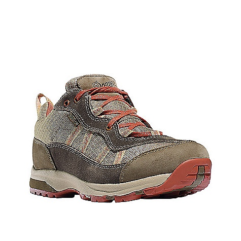 Camp and Hike Free Shipping. Danner Women's St Helens Low Shoe DECENT FEATURES of the Danner Women's St Helens Low Shoe Lightweight nubuck leather and sude upper with lightweight woven nylon Waterproof and breathable GORE-TEX Extended Comfort lining Lightweight, moisture wicking, antimicrobial open cell PU footbed Dual density, low profile EVA platform provides added cushioning Danner Double Hook system for customizable secure fit Specifically designed on a women's last for superior fit Danner St. Helens outsole for traction over rugged terrain The SPECS Nylon shank 3in. height 26 oz - $109.95