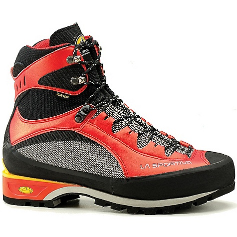 Climbing Free Shipping. La Sportiva Men's Trango S EVO GTX Boot Award Winner - 2004 Backpacker Editor's Choice Award Winner - Alpinist Mountain Standards FEATURES of the La Sportiva Men's Trango S EVO GTX Boot Innovative 3D flex ankle for maneuverability Gore-Tex lining for waterproof protection 7mm trail flex insole for the perfect flex and protection Vibram mulaz sole with climbing zone Ultralight 3-season alpine climbing boot - $319.95
