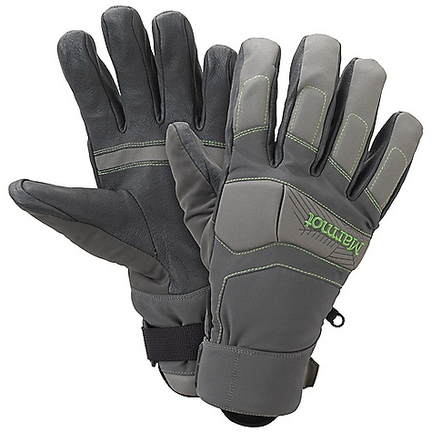 On Sale. Free Shipping. Marmot Aerial Undercuff Glove DECENT FEATURES of the Marmot Aerial Undercuff Glove Marmot MemBrain Waterproof/Breathable Insert Marmot M3 Soft-shell Fabric Protective Foam Padding in Critical Impact Zones Under cuff Design Fits Under Jacket Sleeve Thermal R Insulation DriClime Bi-Component Wicking Lining Falcon Grip Nose wipe Pull Tab The SPECS Weight: Large: 5.8 oz / 164.4 g Material: 96% Polyester 4% Elastane 6.8oz/yd, Polyurethane 0.7mm Reinforcement: Washable Pigskin Leather 0.6 - 0.8mm Lining: DriClime 3-Dimentional Wicking Lining Insulation: Thermal R Glove Insert: MemBrain Glove Insert - Waterproof, Breathable and Windproof - $63.99