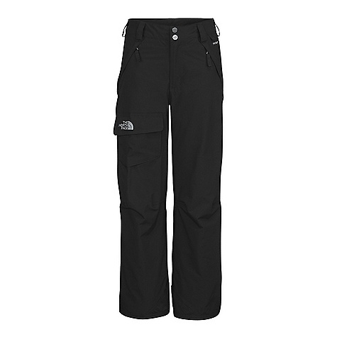 On Sale. Free Shipping. The North Face Boys' Freedom Insulated Pant DECENT FEATURES of The North Face Boys' Freedom Insulated Pant Waterproof, breathable, fully seam sealed Cargo pocket with Velcro flap closure Zippered handwarmer pockets Articulated knees Key clip Zip-fly Half elastic waistband with snap front closure Belt loops Gaiter with gripper elastic Reinforced kickpatch Grow cuffs at leg opening Embroidered logo at cargo pocket The SPECS Fabric: Body: HyVent 2L-100% nylon faille weave, bluesign approved, Lining: 100% nylon taffeta, Insulation: 60 g Heatseeker This product can only be shipped within the United States. Please don't hate us. - $59.99