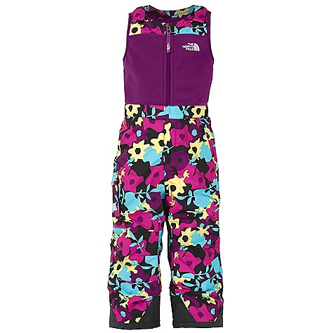 On Sale. Free Shipping. The North Face Toddler Girls' Insulated Snowdrift Bib DECENT FEATURES of The North Face Toddler Girls' Insulated Snowdrift Bib Waterproof, breathable, fully seam sealed Reinforcements at knees Adjustable shoulder tabs with Velcro closure Cargo pocket Center front zip extends through fly for easy entry Half elastic waistband with snap front closure Gaiter with gripper elastic Boot clip Reinforced kick patch at hem Grow cuffs at leg opening extend the pant length up to 2in. System map on interior of garment outlines suit features Embroidered logo at left chest and back of knee Imported The SPECS Average Weight: 12.7 oz / 360 g Inseam: 14in., Grown: 15.5in. Body (At Top): 300 g/m2 100% polyester TKA 300 fleece Body (At Solid Bottom): 70D x 160D 128 g/m2 HyVent 2L-100% nylon faille weave (blue sign approved fabric) Body (At Printed Bottom): 75D 105 g/m2 HyVent 2L-100% polyester printed plain weave Insulation (At Bottom): 60 g Heat seeker Aero This product can only be shipped within the United States. Please don't hate us. - $63.99
