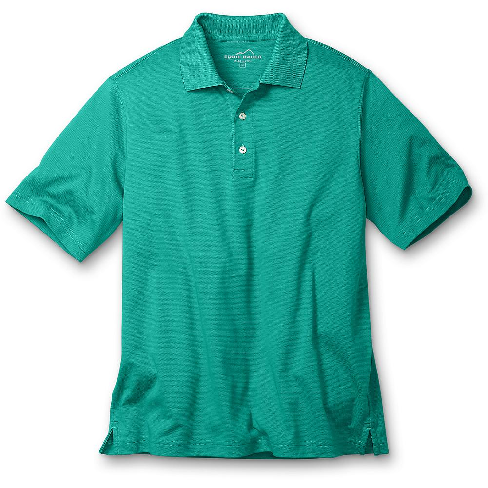 Eddie Bauer Polo Shirt with Cocona - Our polo is made of soft pima cotton blended with Cocona natural technology(TM) so it keeps you cool and dry, blocks the sun's harmful rays and looks great in action. What's more, since the technology is embedded in the fiber, the benefits won't wash or wear out. Traditional style details include a flat-knit collar and a three-button placket. Imported. - $19.99