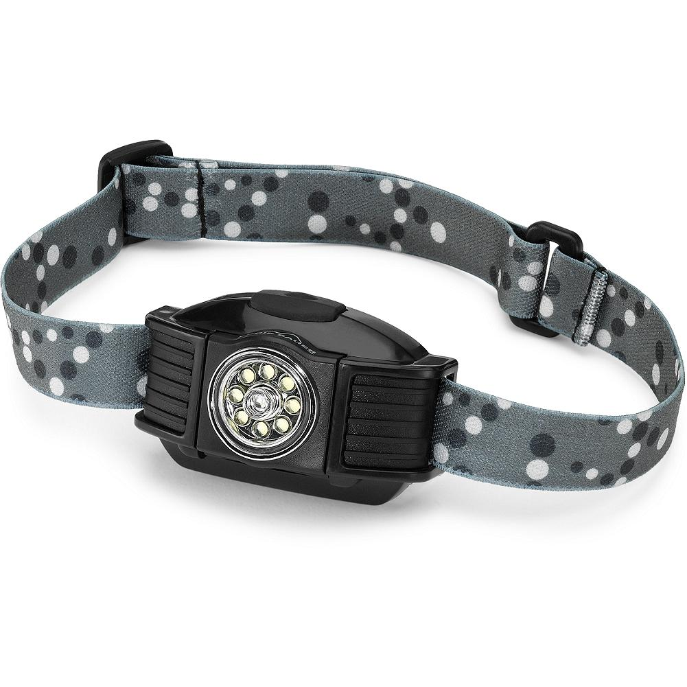 Camp and Hike Eddie Bauer Multi-Color LED Headlamp - Our headlamp is built to rotate at angles up to 60deg. It's equipped with 8 bright LEDS: white, red and green. With an exclusive optical lens that retains 96% illumination and switchable light features: choose 8 white LEDS (lasts up to 26 hours), 4 white LEDS (up to 45 hours), red emergency LED (up to 100 hours) or green LED (up to 76 hours). Includes three AAA batteries. - $9.99