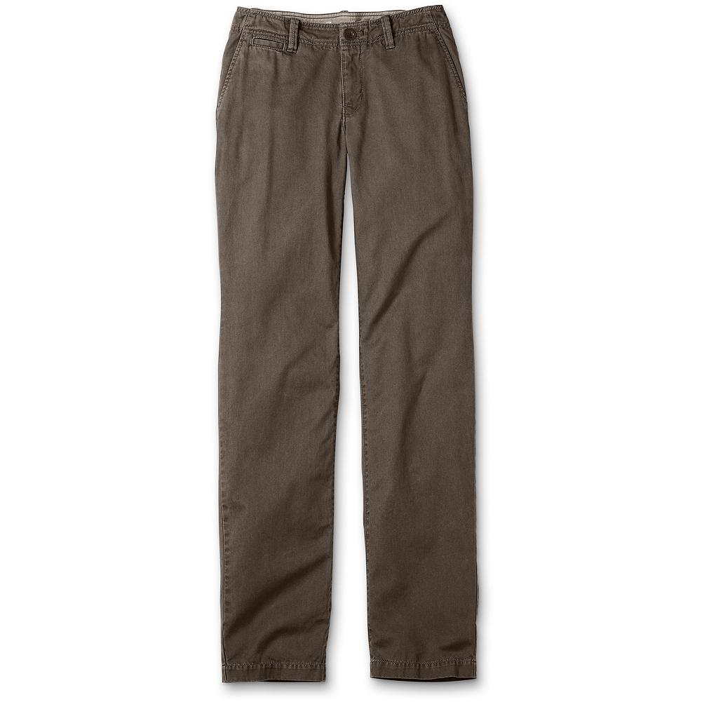 "Eddie Bauer Blakely Fit Legend Wash Chinos - Discontinued - We heard your comments and requests and updated our Chinos to give you the most flattering and comfortable fit possible. Our updated Blakely Fit chinos are made of soft cotton twill, treated with our exclusive Legend Wash for broken-in comfort from the first time you wear them. The tailored waist helps eliminate gapping. Front slant pockets, button-through back welt pockets and straight leg. Blakely fit. Inseam: 32"". Imported. - $19.99"