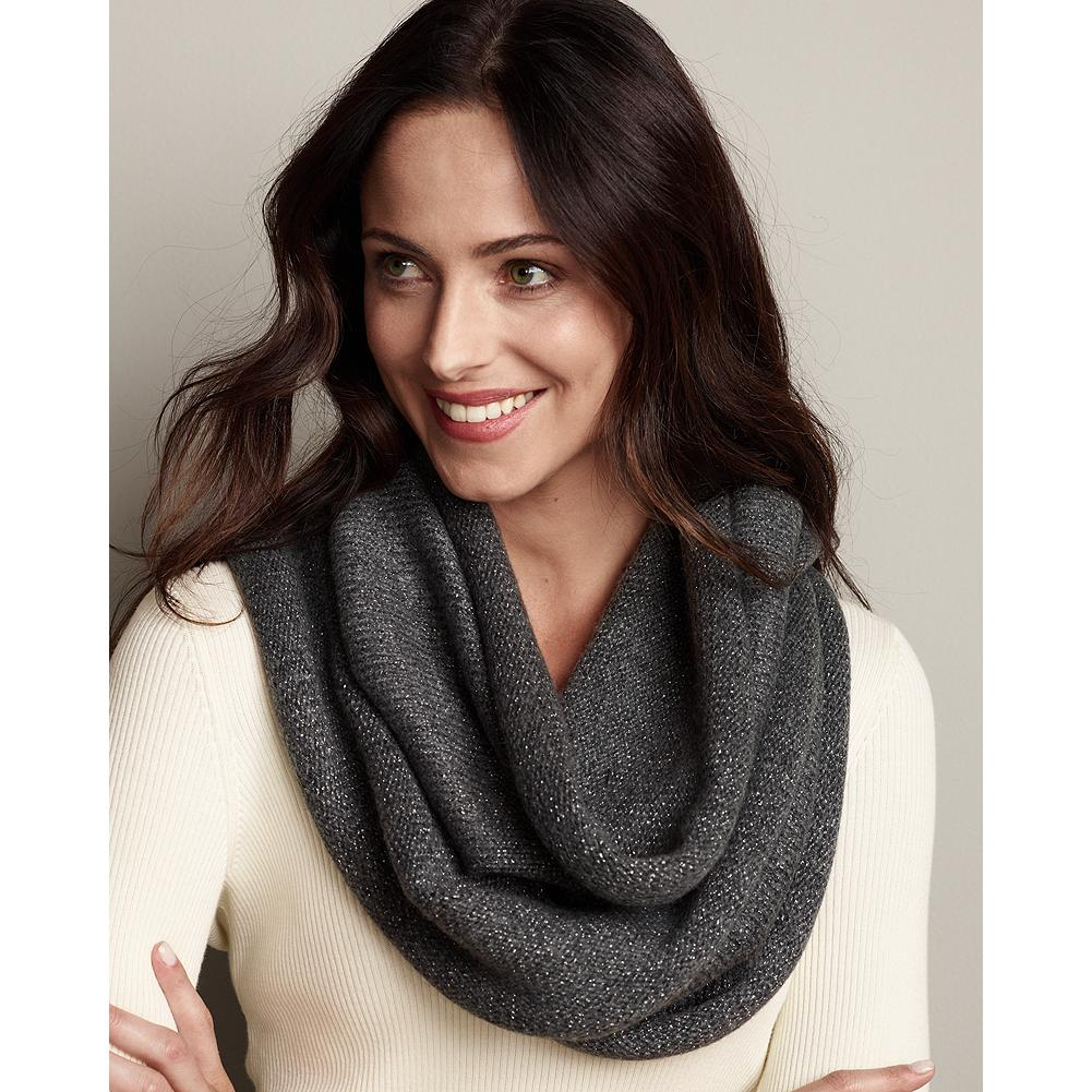 Eddie Bauer Solid Knit Loop Scarf - This scarf features an on-trend infinity loop design that looks great and makes accessorizing easy. - $14.99