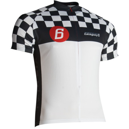 Fitness Still haven't been able to qualify for the beginner class race' No worries, the Twinsix Cat 6 Jersey lets the other riders that you don't need to enter the race, because we're all winners here! - $37.48