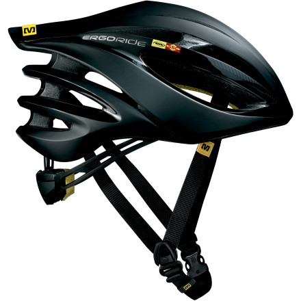 Fitness Though the professional peloton's helmets have long been co-dominated by Giro and Bell, the Mavic Plasma SLR Helmet is the type of advanced technology coupled with amazing looks that usually turns heads while saving them. Mark our words, helmets this well made have every promise of becoming as ubiquitous as the Mavic wheels already are in professional and amateur ranks. First and foremost, Mavic have taken a hard look at how they can create helmets with a supreme fit that are lighter, better ventilated, and extremely safe all at the same time. First Mavic looked at optimizing the actual shape of the helmet. They conducted cranial mapping tests to make sure that their helmet shapes closely match typical head shapes with pressure points and contours identified and accounted for. The interior shape of the helmet consequently flows along with the curves of the skull. While the helmets are designed around the average shape, Mavic knew that no two heads are the same, and their Ergo Hold System allows for as much as 6 centimeters of one-handed size adjustment. For the final touches on fit perfection, as well as excellent moisture management, Mavic has included their Ergo Fit Pro Pad with X-Static. It might not seem like much when you look at it, but the Ergo Fit Pro Pad is a low density, open cell foam that wicks water from the skin and transports it to where it can evaporate quickly. Featured in the material is the latest savior for those of us who hate to smell like sweat and synthetic fabrics when we are finished with a rideX-Static. Though developed for industrial and medical products, it didn't take long for commercial manufacturers to see how well it would work in athletic equipment. As a fiber with a layer of 99.9% pure silver, X-Static keeps odors to a minimum and reduces static. With your head thus comforted on the inside, Mavic took a hard look at what they could do for the exterior of the helmet. - $132.00