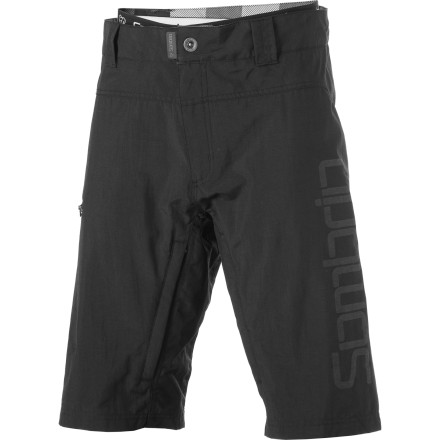 MTB Tackle any terrain in the Sombrio Men's Lowline II Bike Short. Coming straight out of the Epik line, these shorts are made to go for miles and be tough, lightweight, and comfortable both on the trail, and when you pedal to your favorite post-ride watering hole.  The Lowline II is a versatile, technical piece that comes with a detachable chamois liner, the difference from the standard Lowline. The shorts have a sturdy seam construction and utilize bar tack stitching throughout the stress zones. They're made from Core 500 fabric, a durable medium weight moto fabric with a 500 denier oxford weave. The fabric is treated with DWR to repel rain and mud. In short, these can take a pounding and still come off the trail ready for another ride.The FRD slim fit leaves room for pads without being snag-your-saddle baggy around the legs. Vents in the thighs give you a place to dump heat when needed. A zippered side pocket and single welt flap zippered back waistband pocket give you storage options when you're riding without a pack. The rubber pull tab on the fly makes unzipping your pants with gloved hands easier, and belt loops finish off the shorts so you can secure them in the right place. The medium density chamois adds padding and moisture management on XC rides but can be removed for lift-served days. The Sombrio Lowline II Bike Short comes in Wet Cement and Black. It is available in sizes X-Small through XX-Large. - $61.98