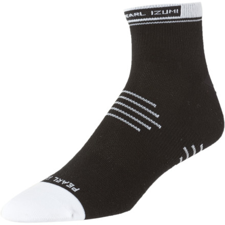 Fitness The Pearl Izumi Elite Low Sock is so comfortable you won't even know you're wearing socks except that your shoes will fit and you won't be giving birth to multiple blisters.Moitsure-wicking fabric keeps your foot dry and cool Strategically-placed cushioning reduces shock and fatigue Strategically-placed mesh panels promote airflow to keep your foot cool - $11.95